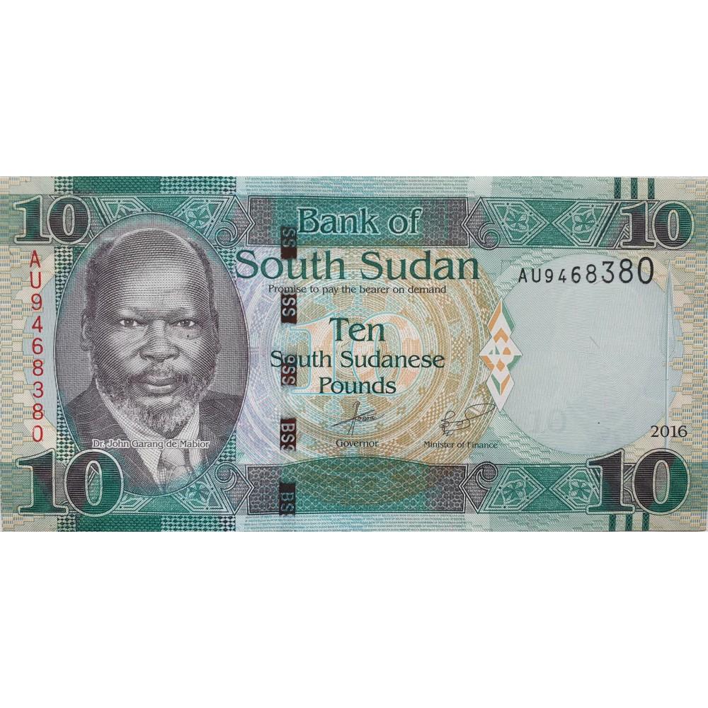 Южный Судан 10 Фунтов 2016 UNC пресс.