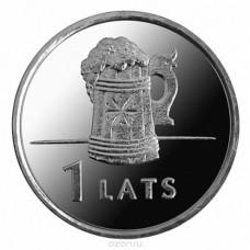 1 лат 2011 Латвия. Пивная кружка