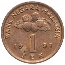1 сен Малайзия 1989-2007