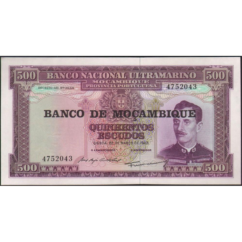 Мозамбик 500 эскудо 1967.UNC пресс.