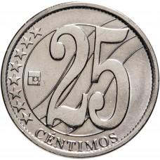 25 сентимо Венесуэла 2007-2009