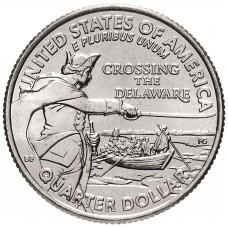 25 центов США 2021- Джордж Вашингтон - Переправа через реку Делавэр