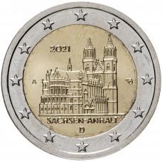 2 евро 2021 Германия Саксония-Ангальт, Магдебургский собор