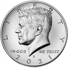 1/2 доллара 2021 США Президент Джон Кеннеди