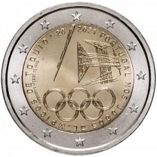 "2 евро 2021 Португалия - ""Летние Олимпийские игры в Токио"" UNC"
