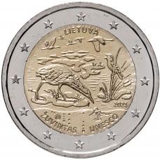 """2 евро 2021 Литва - """"Биосферный резерват Жувинтас"""""""
