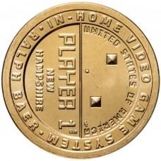 1 доллар 2021 - Нью-Гэмпшир - Ральф Баер, Игровая приставка - Американские инновации