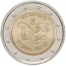2 евро 2021 Эстония - Финно-угорские народы