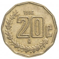 20 сентаво Мексика 1992-2009
