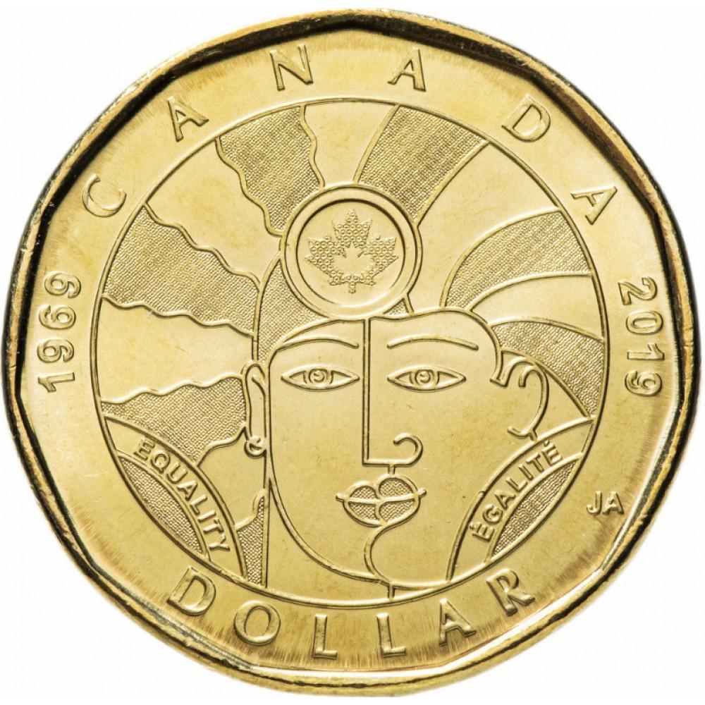 "1 доллар 2019 ""50 лет Декриминализации Гомосексуализма в Канаде"""