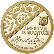 """1 доллар 2018  """"Американские инновации - Первый патент"""""""