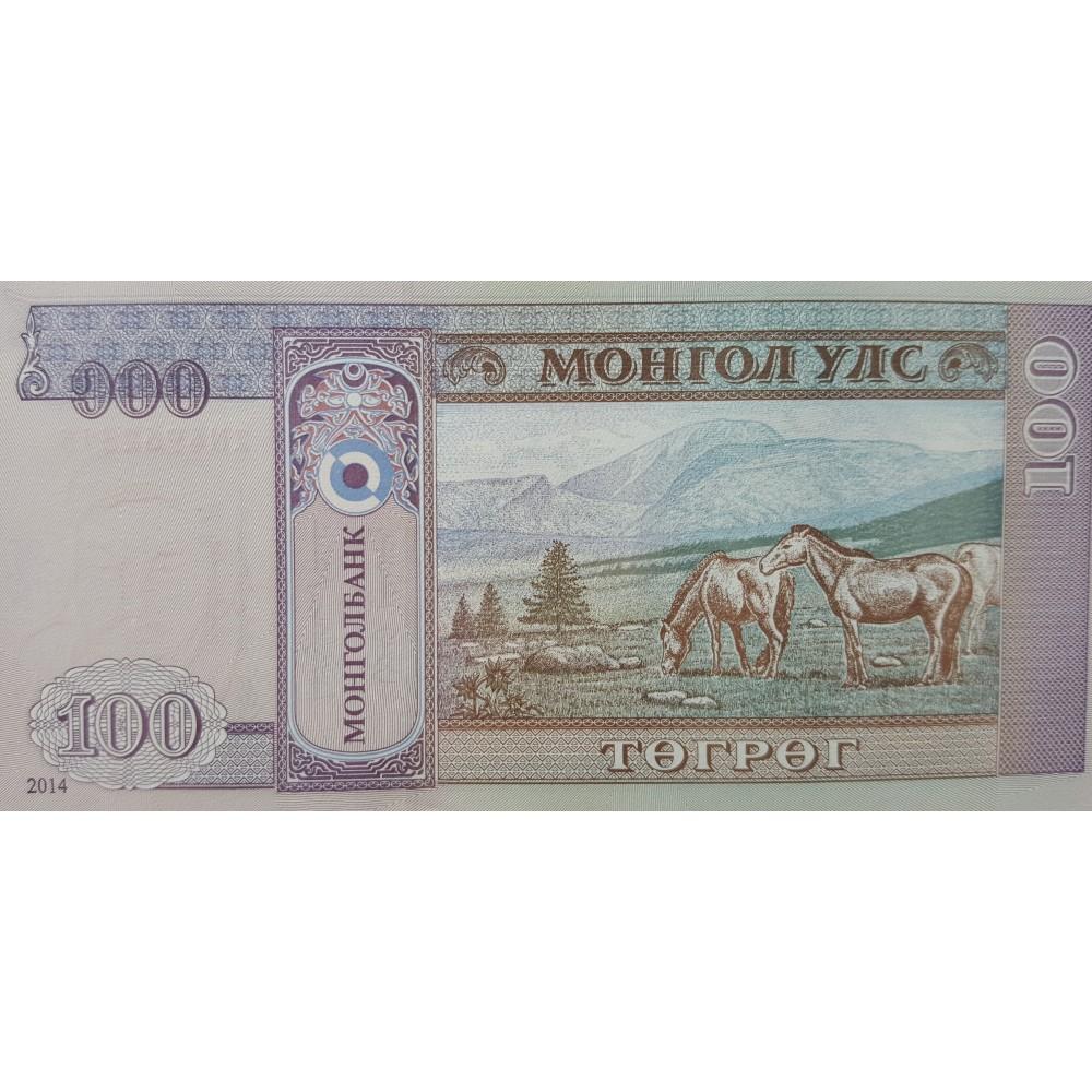 Монголия.100 тугриков. 2014.UNC пресс