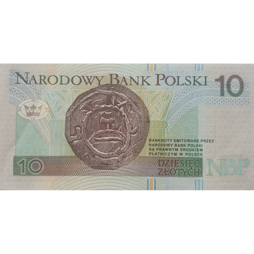 Польша.10 злотых.1994.UNC пресс.
