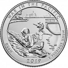 25 центов США 2019 Национальный монумент воинской доблести в Тихом океане. 48-й парк. Двор D