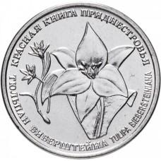 1 рубль 2019 Тюльпан Биберштейна - Красная Книга, Приднестровье