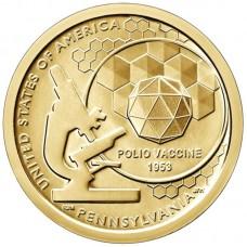 1 доллар 2019 Американские Инновации №3 - Вакцина против полиомиелита
