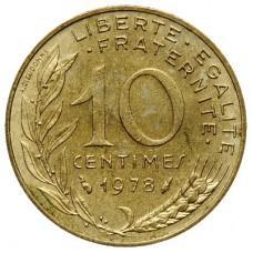 10 сантимов Франция 1966-2002
