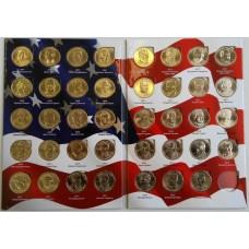 Набор 1 доллар 2016-2018 Президенты США, 39 монет в альбоме