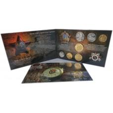 КОПИЯ набора монет  50 лет Победы В Великой Отечественной Войне 1945 года - в альбоме