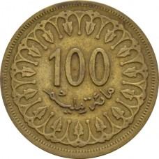 Тунис 100 миллимов 1960-2018