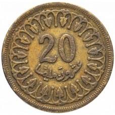 Тунис  20 миллимов  1960-2005