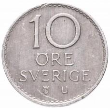 10 эре 1962-1973 Швеция, Густав VI Адольф