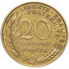 20 сантимов Франция 1962-2001