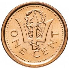 1 цент Барбадос 1973-2012