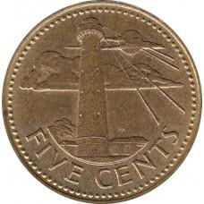 5 центов Барбадос 1973