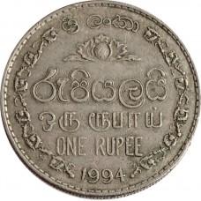 1 рупия Шри-Ланка 1982-1994