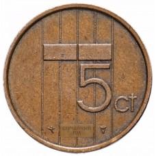 Нидерланды 5 центов 1982-2001