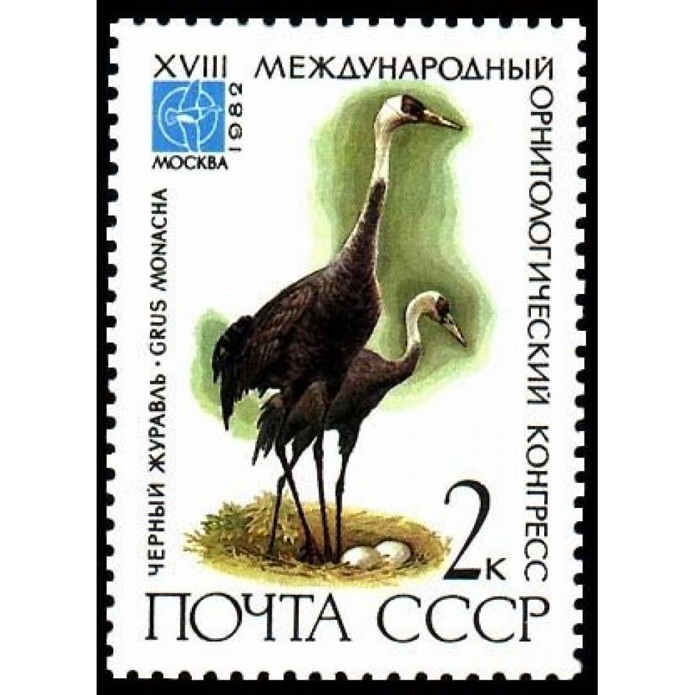 1982 XVIII Международный орнитологический конгресс.Черный журавль
