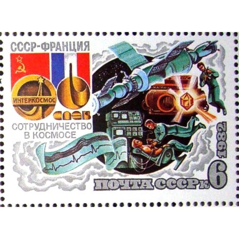 1982 Совместный советско-французский космический полет на корабле ''Союз Т-6''.Медицинские исследования