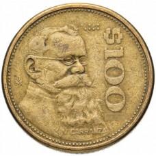 100 песо Мексика 1984-1992