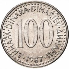100 динаров Югославия 1985-1988