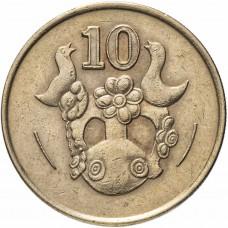 Кипр 10 центов 1985-1990