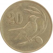 Кипр 20 центов 1985-1988г.