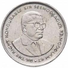 Маврикий 1 рупия 1987-2010