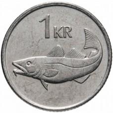 1 крона Исландия 1989-2011