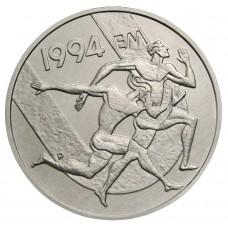 100 марок 1994 Финляндия, Стадион Дружбы/Чемпионат Европы по Легкой Атлетике. UNC. Серебро