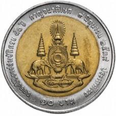 10 бат Таиланд 1996 (50 лет правления Короля Рамы IX)