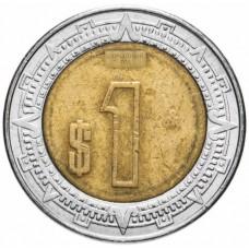 1 песо Мексика 1996-2019