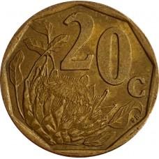 ЮАР 20 центов  1996-2000
