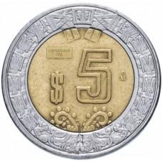 5 песо Мексика 1997-2019