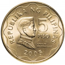 5 песо 1995-2017 Филиппины