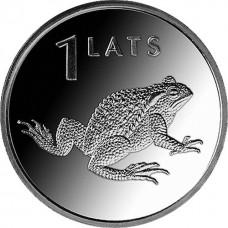 1 лат 2010 Латвия.Лягушка