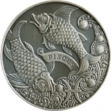 1 рубль Рыбы - 2014 год Беларусь, Зодиакальный гороскоп