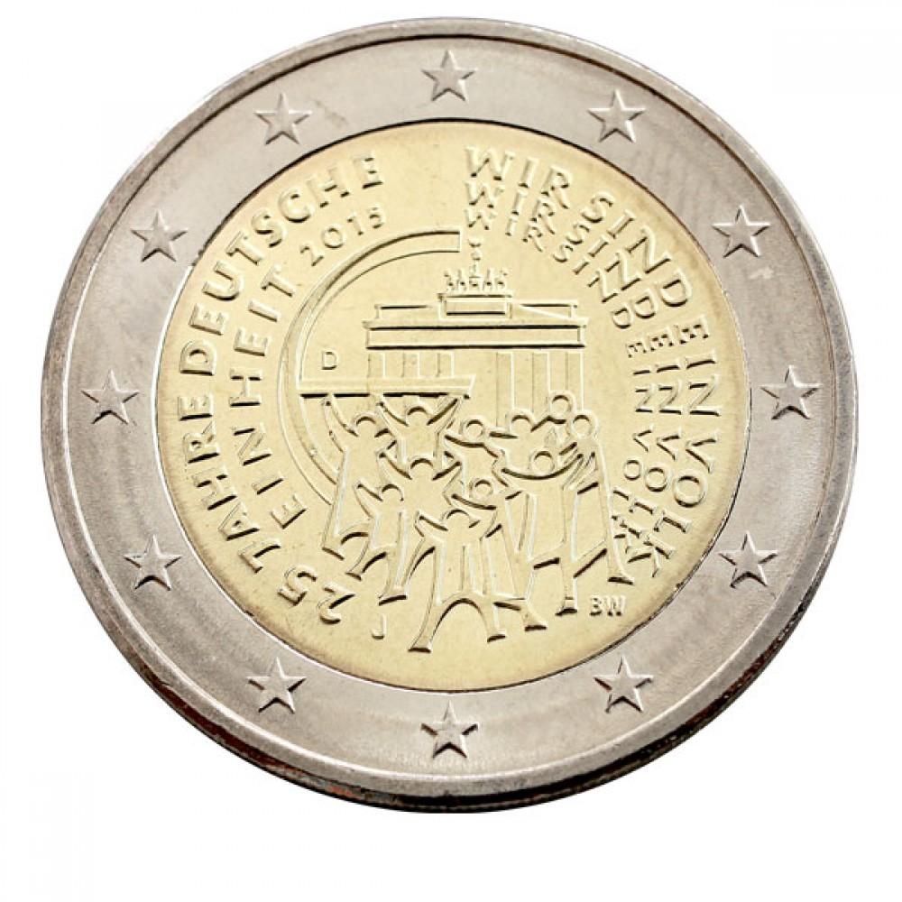 2 Евро 2015 Германия.25 лет объединению Германии