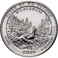 25 центов США 2019 Национальный Парк - Франка Черча. 50-Й ПАРК. Двор D