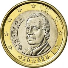1 евро Испания 2002